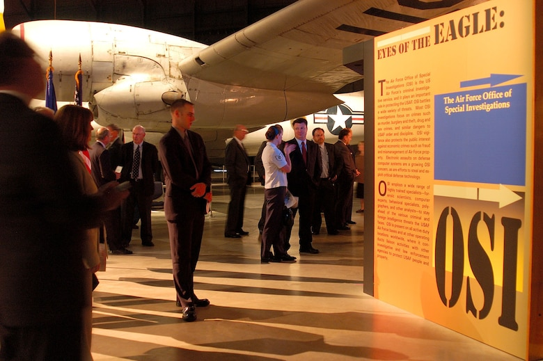 4/20/05 - DAYTON, Ohio -- A new exhibit featuring the Air Force Office of Special Investigations opens at the National Museum of the United States Air Force. (U.S. Air Force photo by Jeff Fisher)