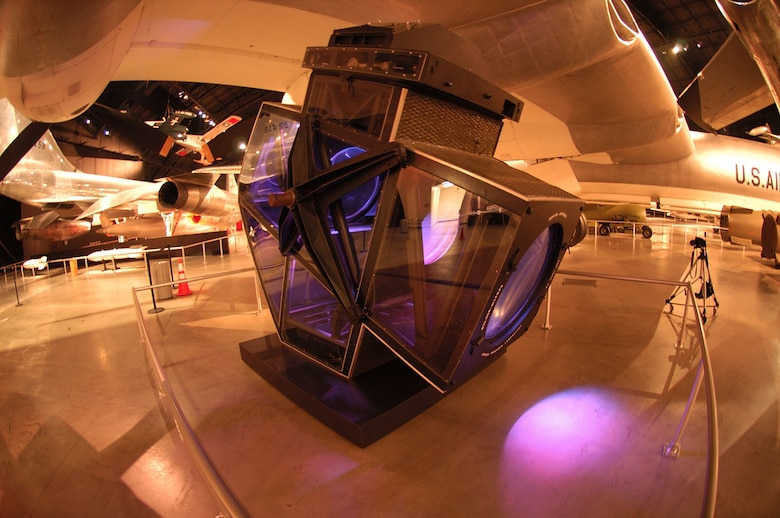 DAYTON, Ohio -- This camera, manufactured for the USAF by Boston University in 1951, is the largest aerial camera ever built. The camera is on display at the National Museum of the United States Air Force. (U.S. Air Force photo)