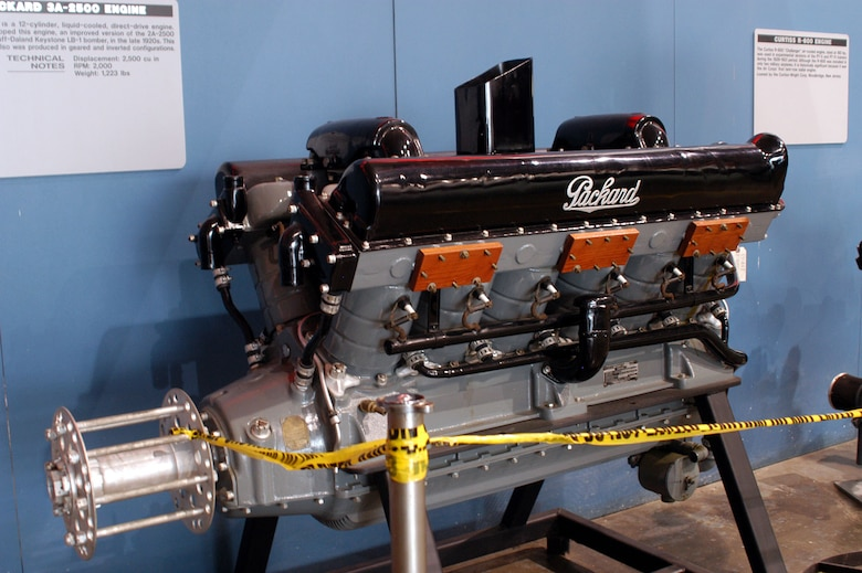 DAYTON, Ohio -- Packard 3A-2500 engine on display in the Research & Development Gallery at the National Museum of the United States Air Force. (U.S. Air Force photo)