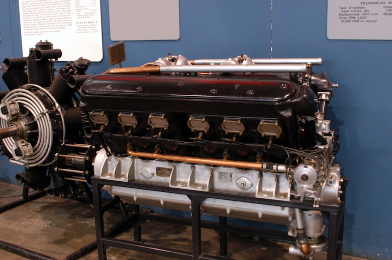 DAYTON, Ohio -- Wright T-3 engine on display in the Research & Development Gallery at the National Museum of the United States Air Force. (U.S. Air Force photo)