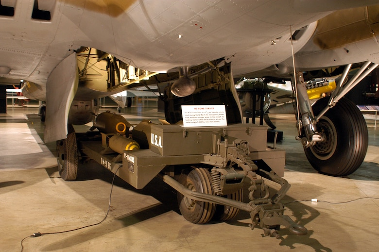 DAYTON, Ohio -- M5 bomb trailer on display in the World War II Gallery at the National Museum of the United States Air Force. (U.S. Air Force photo)