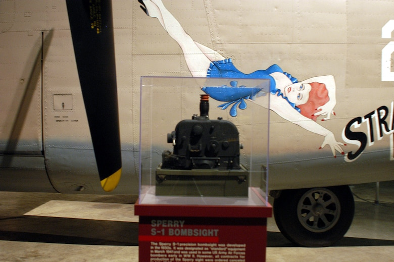 DAYTON, Ohio -- Sperry S-1 Bombsight on display in the World War II Gallery at the National Museum of the United States Air Force. (U.S. Air Force photo)