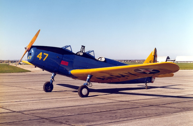 DAYTON, Ohio -- Fairchild PT-19A Cornell at the National Museum of the United States Air Force. (U.S. Air Force photo)