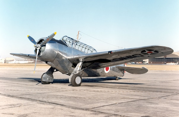 DAYTON, Ohio -- North American O-47B at the National Museum of the United States Air Force. (U.S. Air Force photo)