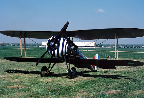 DAYTON, Ohio -- Nieuport N.28C-1 at the National Museum of the United States Air Force. (U.S. Air Force photo)