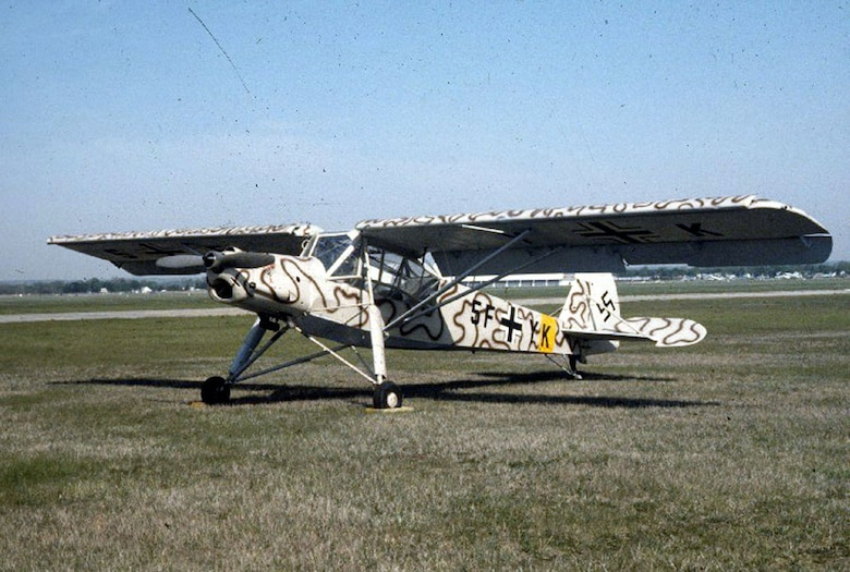 DAYTON, Ohio -- Fieseler Fi-156C-1 Storch at the National Museum of the United States Air Force. (U.S. Air Force photo)
