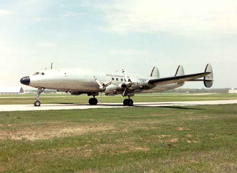 "DAYTON, Ohio -- Lockheed VC-121E ""Columbine III"" at the National Museum of the United States Air Force. (U.S. Air Force photo)"