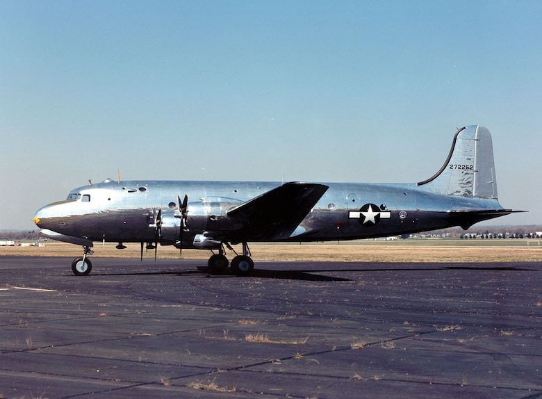 "DAYTON, Ohio -- Douglas VC-54C ""Sacred Cow"" at the National Museum of the United States Air Force. (U.S. Air Force photo)"