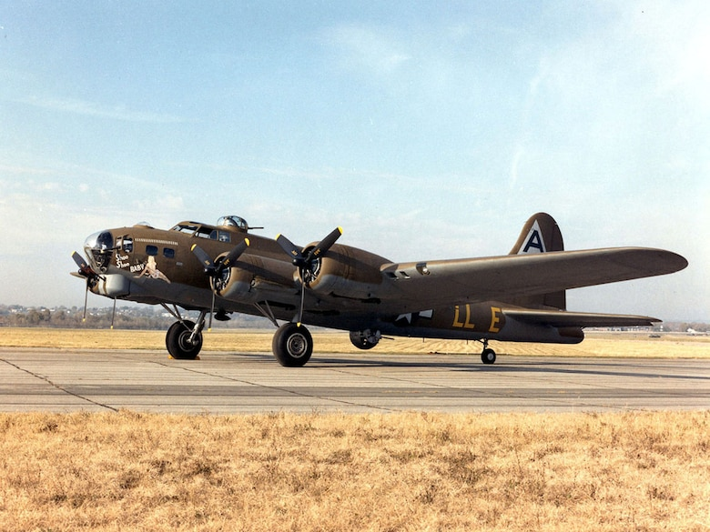 "DAYTON, Ohio -- Boeing B-17G Flying Fortress ""Shoo Shoo Shoo Baby"" at the National Museum of the United States Air Force. (U.S. Air Force photo)"