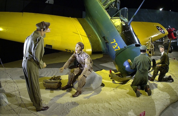 DAYTON, Ohio -- Trainer crash diorama in the Early Years Gallery at the National Museum of the United States Air Force. (U.S. Air Force photo)