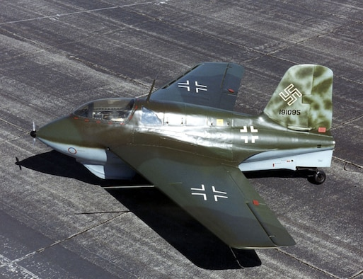 DAYTON, Ohio -- Messerschmitt Me 163B at the National Museum of the United States Air Force. (U.S. Air Force photo)