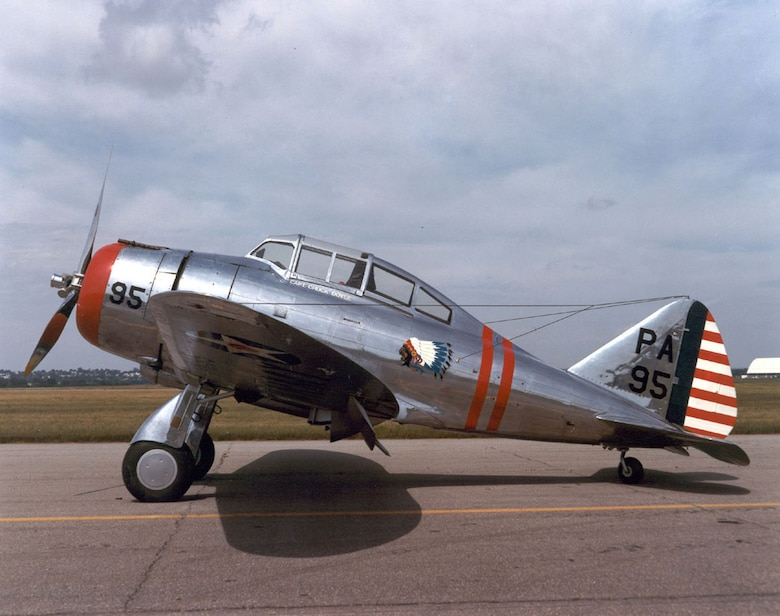 DAYTON, Ohio -- Seversky P-35A at the National Museum of the United States Air Force. (U.S. Air Force photo)