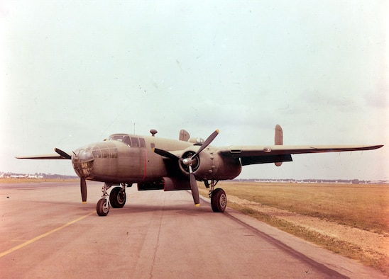 DAYTON, Ohio -- North American B-25B Mitchell at the National Museum of the United States Air Force. (U.S. Air Force photo)