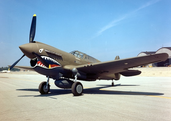 DAYTON, Ohio -- Curtiss P-40E Warhawk at the National Museum of the United States Air Force. (U.S. Air Force photo)