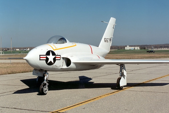 DAYTON, Ohio -- Northrop X-4 at the National Museum of the United States Air Force. (U.S. Air Force photo)