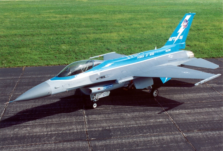 DAYTON, Ohio -- General Dynamics NF-16A AFTI at the National Museum of the United States Air Force. (U.S. Air Force photo)