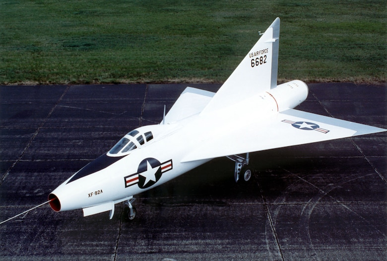 DAYTON, Ohio -- Convair XF-92A at the National Museum of the United States Air Force. (U.S. Air Force photo)