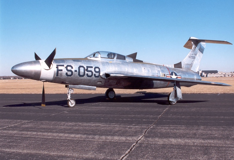DAYTON, Ohio -- Republic XF-84H at the National Museum of the United States Air Force. (U.S. Air Force photo)