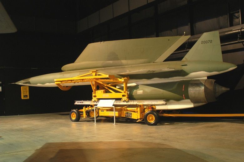 DAYTON, Ohio -- North American AGM-28B Hound Dog in the Cold War Gallery at the National Museum of the United States Air Force. (U.S. Air Force photo)