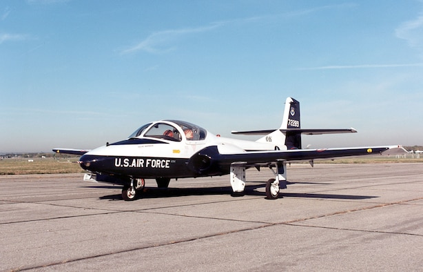 DAYTON, Ohio -- Cessna T-37B Tweety Bird at the National Museum of the United States Air Force. (U.S. Air Force photo)