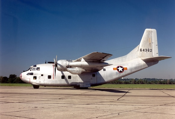 DAYTON, Ohio -- Fairchild C-123K Provider at the National Museum of the United States Air Force. (U.S. Air Force photo)