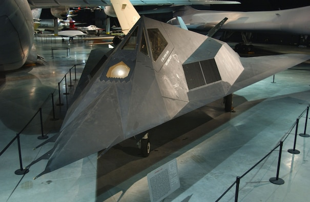 DAYTON, Ohio -- Lockheed F-117A Nighthawk in the Cold War Gallery at the National Museum of the United States Air Force. (U.S. Air Force photo)