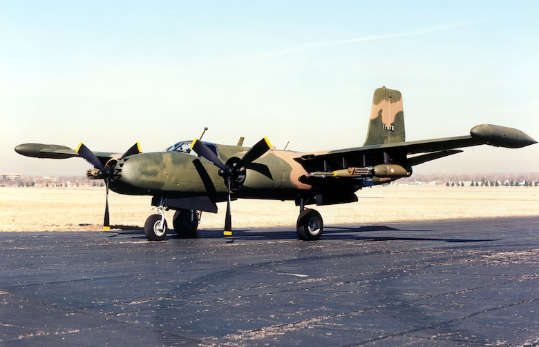 DAYTON, Ohio -- Douglas B-26K Counter Invader at the National Museum of the United States Air Force. (U.S. Air Force photo)