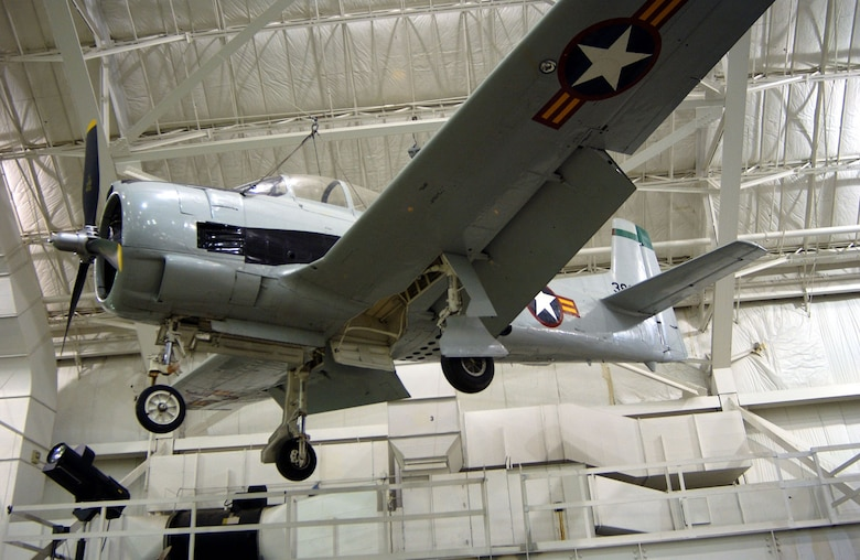 DAYTON, Ohio -- North American T-28B in the Southeast Asia War Gallery at the National Museum of the United States Air Force. (U.S. Air Force photo)