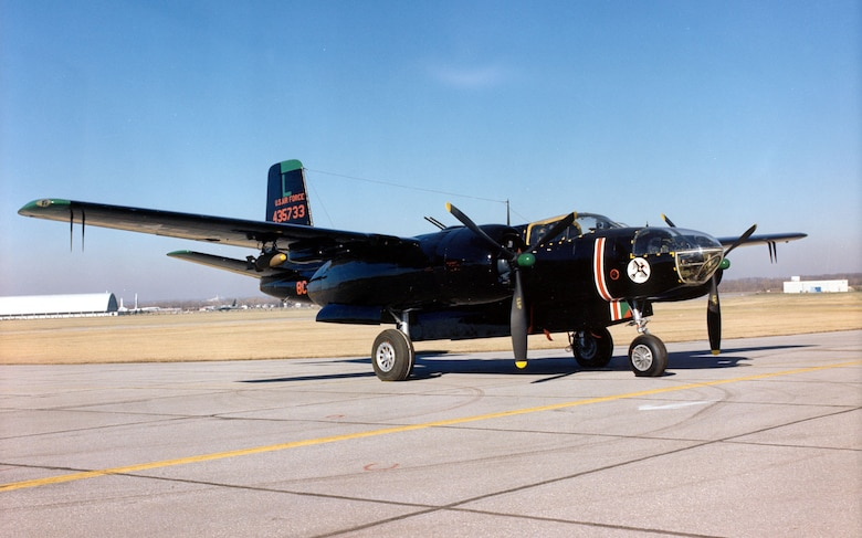 DAYTON, Ohio -- Douglas B-26C (A-26C) Invader at the National Museum of the United States Air Force. (U.S. Air Force photo)