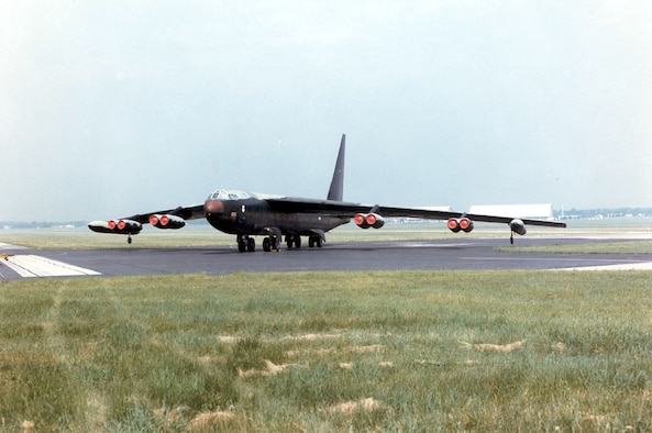 DAYTON, Ohio -- Boeing B-52D Stratofortress at the National Museum of the United States Air Force. (U.S. Air Force photo)