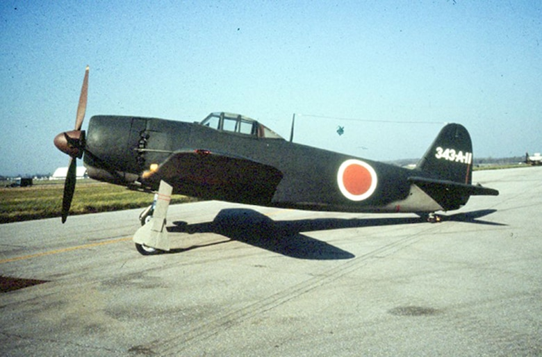 DAYTON, Ohio -- Kawanishi N1K2-Ja Shiden Kai (George) prior to restoration at the National Museum of the United States Air Force. (U.S. Air Force photo)