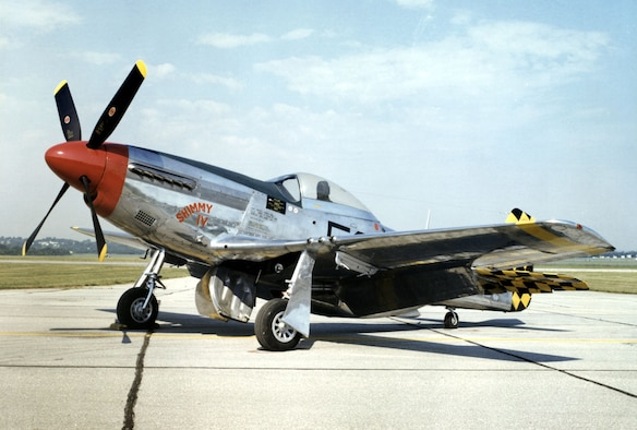 DAYTON, Ohio -- North American P-51D Mustang at the National Museum of the United States Air Force. (U.S. Air Force photo)