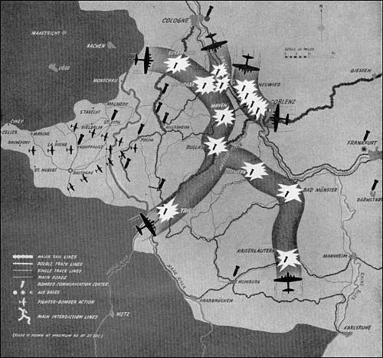 Battle of the Bulge. (U.S. Air Force photo)