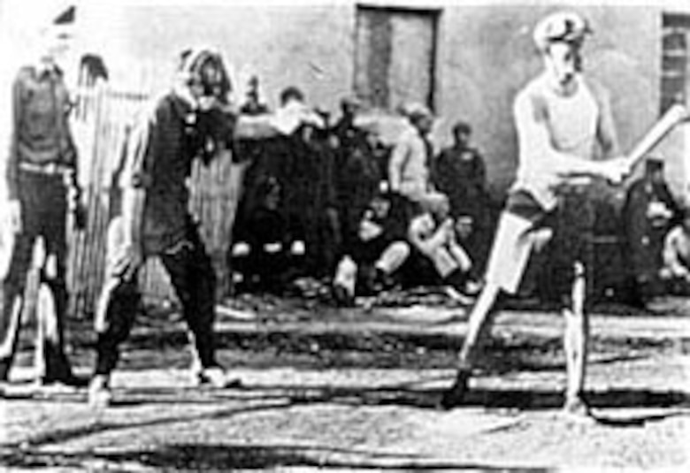 Brig. Gen. Claire Chennault, commander of the 14th Air Force, at the plate. (U.S. Air Force photo)