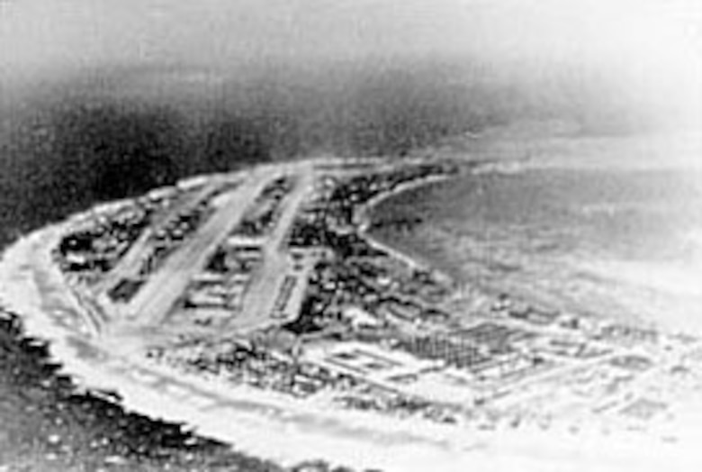 AAF facilities on Kwajalein in the Marshall Islands. (U.S. Air Force photo)
