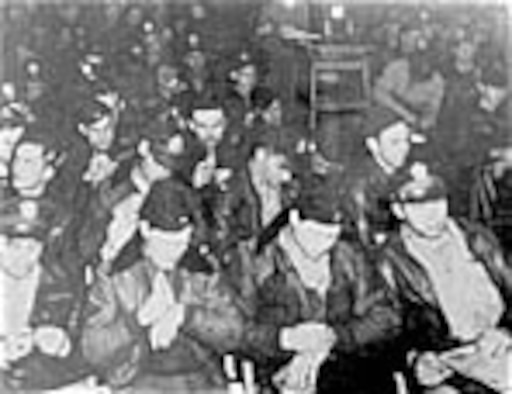 Flight crews at a mission briefing. (U.S. Air Force photo)