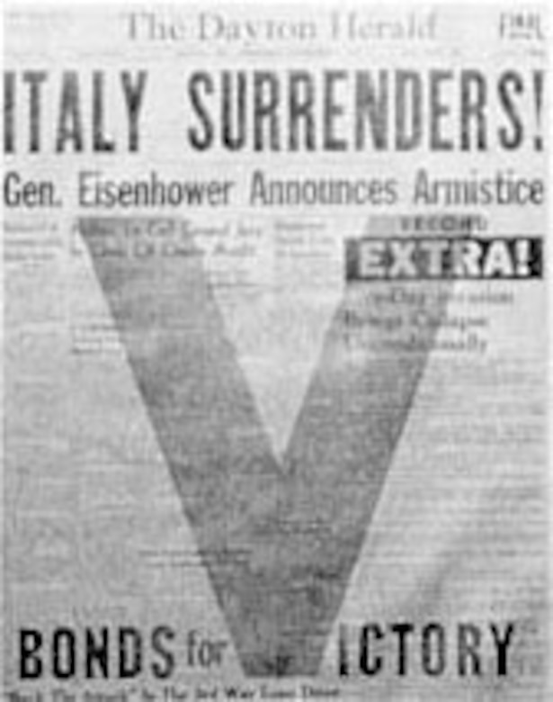 Italy Surrenders. (U.S. Air Force photo)