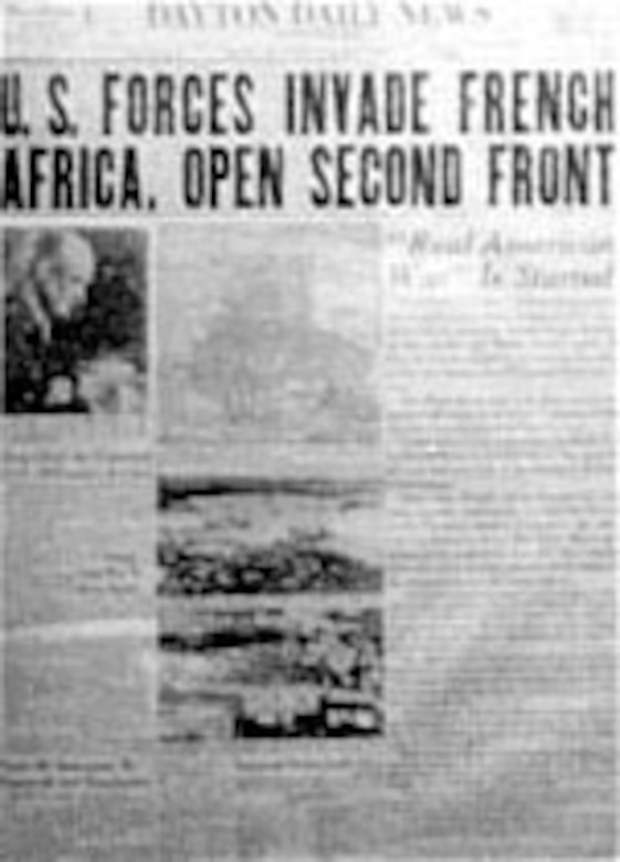 U.S. Forces Invade French Africa, Open Second Front. (U.S. Air Force photo)