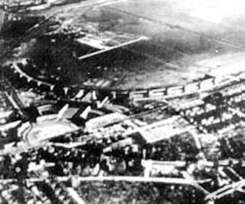 Airlift aircraft used three airfields within Berlin: Tempelhof (above) in the U.S. sector, Gatow in the British sector and Tegel, which was built in the French sector in only 60 days using volunteer German men and women laborers. (U.S. Air Force photo)