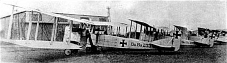Gotha heavy bombers used by Germany in 1916-1917. (U.S. Air Force photo)