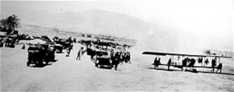 Curtiss JN-3 preparing for takeoff during Mexican Campaign. (U.S. Air Force photo)