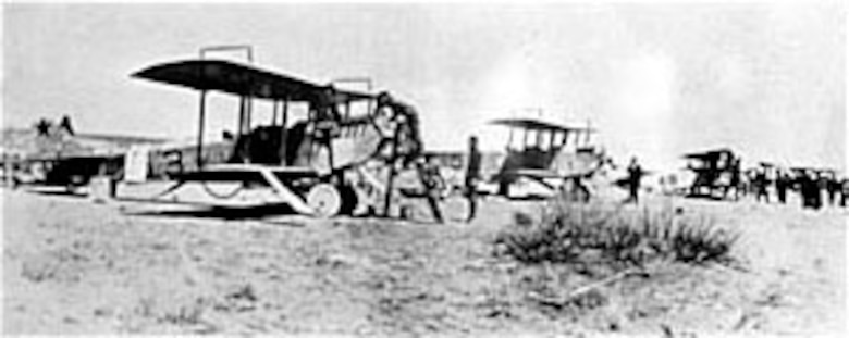 Curtiss JN-3 airplanes used in Mexico. (U.S. Air Force photo)