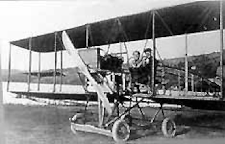 "Curtiss ""G"" accepted in February 1913 and designated Signal Corps No. 21. (U.S. Air Force photo)"