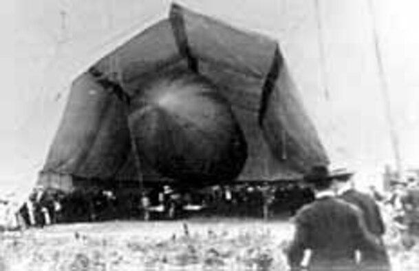 Dirigible No. 1 in hangar at Fort Myer, Va. (U.S. Air Force photo)