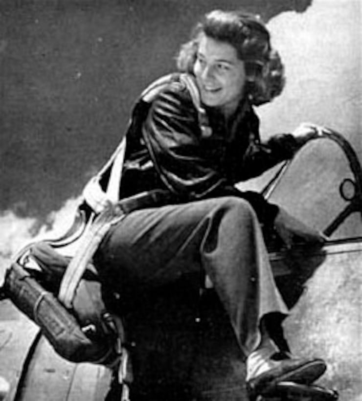 Nancy E. Batson, WAFS pilot. (U.S. Air Force photo)