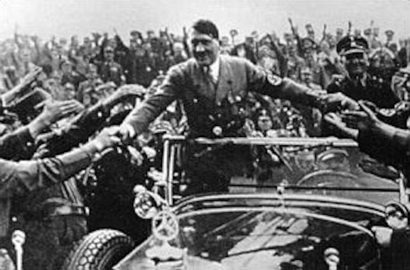 Adolf Hitler at the time he came to power in 1933. At this early period, many considered him a buffoon, not to be taken seriously. It was not many years before the world realized his full intentions. (U.S. Air Force photo)