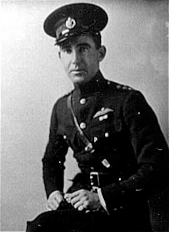 Capt. Frederick Libby in his Royal Flying Corps uniform prior to April 1, 1918, when the Royal Air Force was formed. (U.S. Air Force photo)