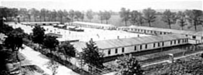 Prisoner of war camp at Villingen, Germany. (U.S. Air Force photo)