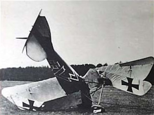 A crashed German Albatross fighter airplane. (U.S. Air Force photo)