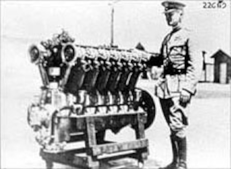 America's greatest technological contribution to the war effort was the development and mass production of the 12-cylinder Liberty engine. (U.S. Air Force photo)